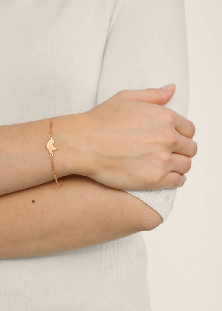Dutch Basics Bird Bracelet - Oxidised and Rose