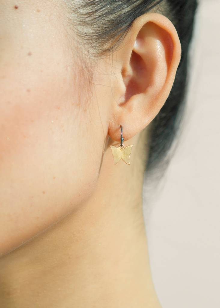 Dutch Basics Butterfly Earrings - Oxidised and Gold