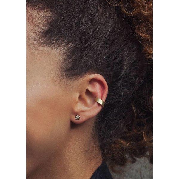 Mini Square Stud Earrings - Rose