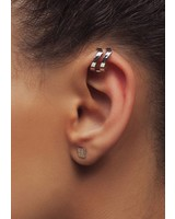 Dutch Basics Silver Double Point Ear Cuff
