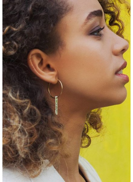 Dutch Basics Gold Plated Hoop Earrings