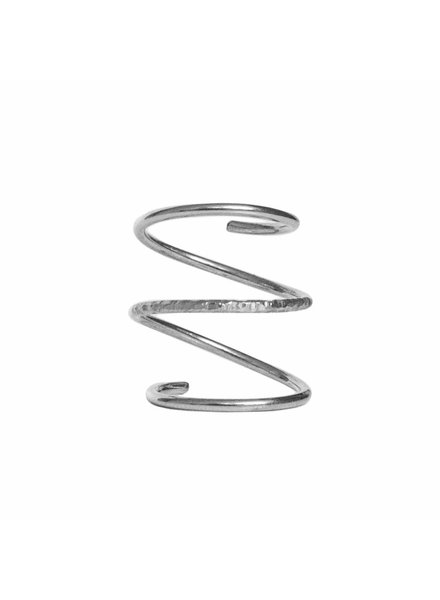 Dutch Basics Silver Spiral Ring