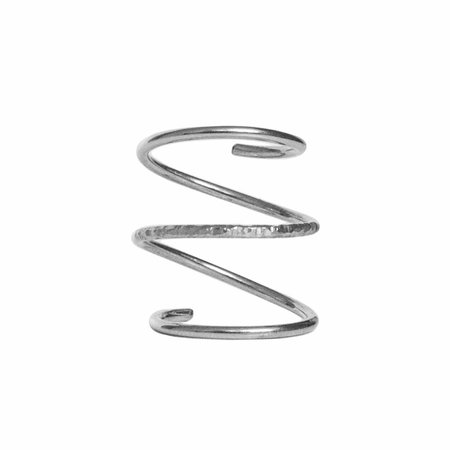 Dutch Basics Silver Spiral Ring