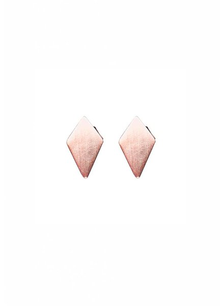Dutch Basics Diamond Stud Earrings 'RUIT' - Rose