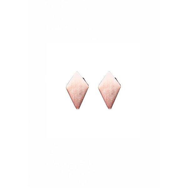 Diamond Shaped Stud Earrings 'RUIT' - Rose