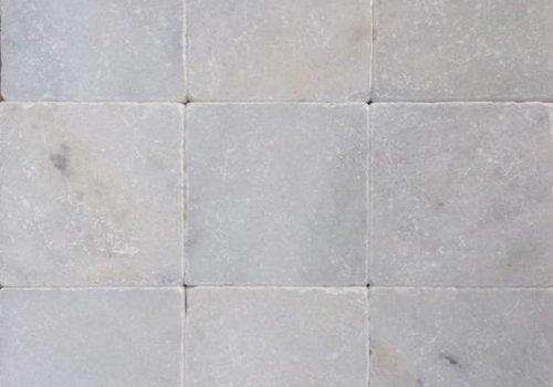 J&T Wit marmer tegels anticato 10x10x1