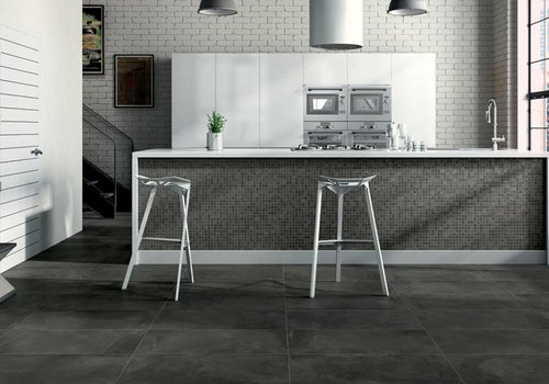 Castelvetro vloertegel FUSION Antracite 80x80 cm Rett.