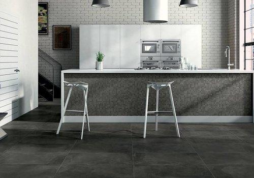 Castelvetro vloertegel FUSION Antracite 40x80 cm Rett.