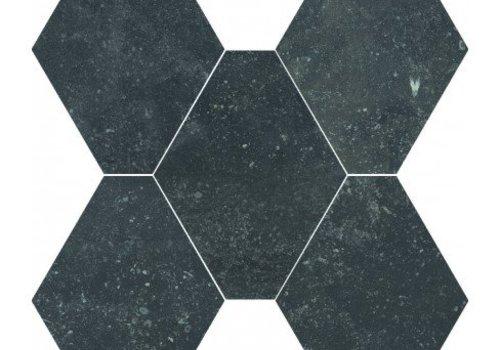 Castelvetro vloertegel ABSOLUTE Esagona Nero 40x35 cm