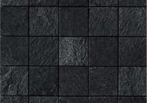 Casalgrande Padana Mozaïek MINERAL CHROM Black 6x6 - Naturale