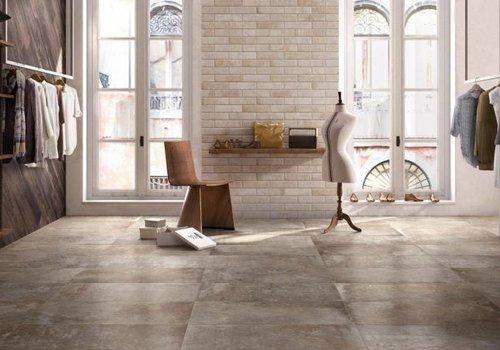 Supergres vloertegel STORY Bronze 75x75 cm rett.
