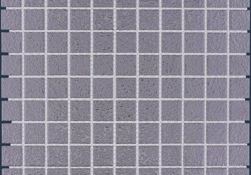 The Mosaic Factory mozaïek BARCELONA Hammered Silver 25x25