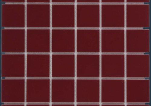 The Mosaic Factory mozaïek BARCELONA Glossy Bordeaux 48x48