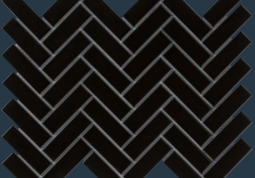 The Mosaic Factory mozaïek PARIS Herringbone Glossy Black