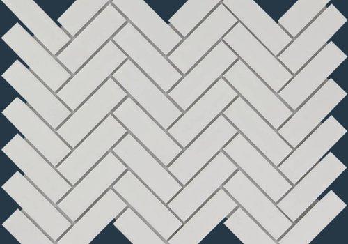 The Mosaic Factory mozaïek PARIS Herringbone Matt White