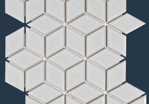 The Mosaic Factory mozaïek PARIS 3D Cubic Glossy White
