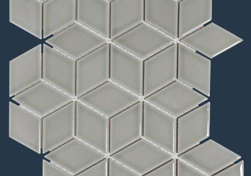 The Mosaic Factory mozaïek PARIS 3D Cubic Glossy Light Grey
