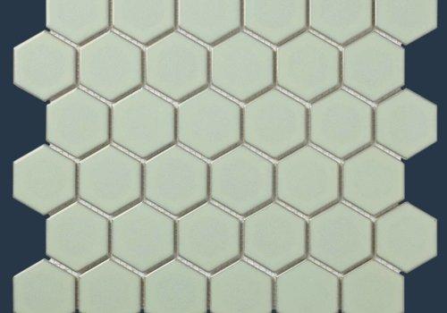 The Mosaic Factory mozaïek BARCELONA Hexagon Glossy Light Green Edge 51x59