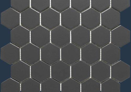 The Mosaic Factory mozaïek BARCELONA Hexagon Matt Dark Grey 51x59