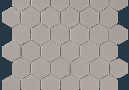 The Mosaic Factory mozaïek BARCELONA Hexagon Matt Taupe 51x59