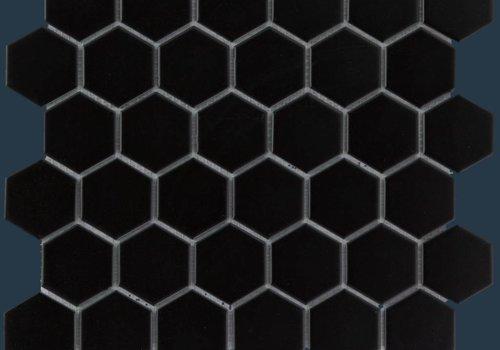 The Mosaic Factory mozaïek BARCELONA Hexagon Matt Black 51x59
