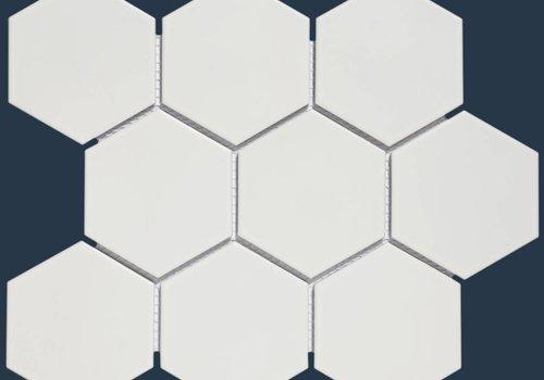 The Mosaic Factory mozaïek BARCELONA Hexagon Matt White 95x110