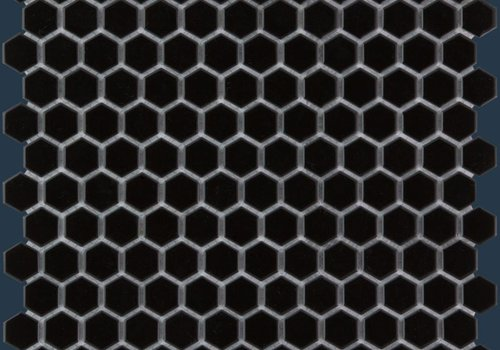 The Mosaic Factory mozaïek BARCELONA Hexagon Glossy Black 23x26
