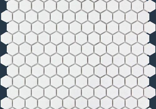 The Mosaic Factory mozaïek BARCELONA Hexagon Matt White 23x26