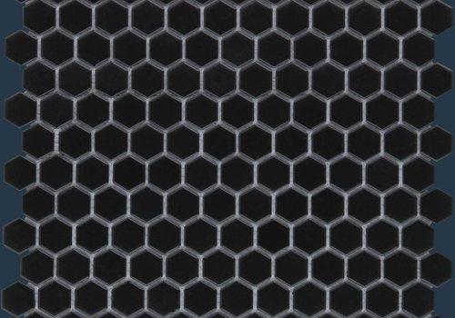 The Mosaic Factory mozaïek BARCELONA Hexagon Matt Black 23x26