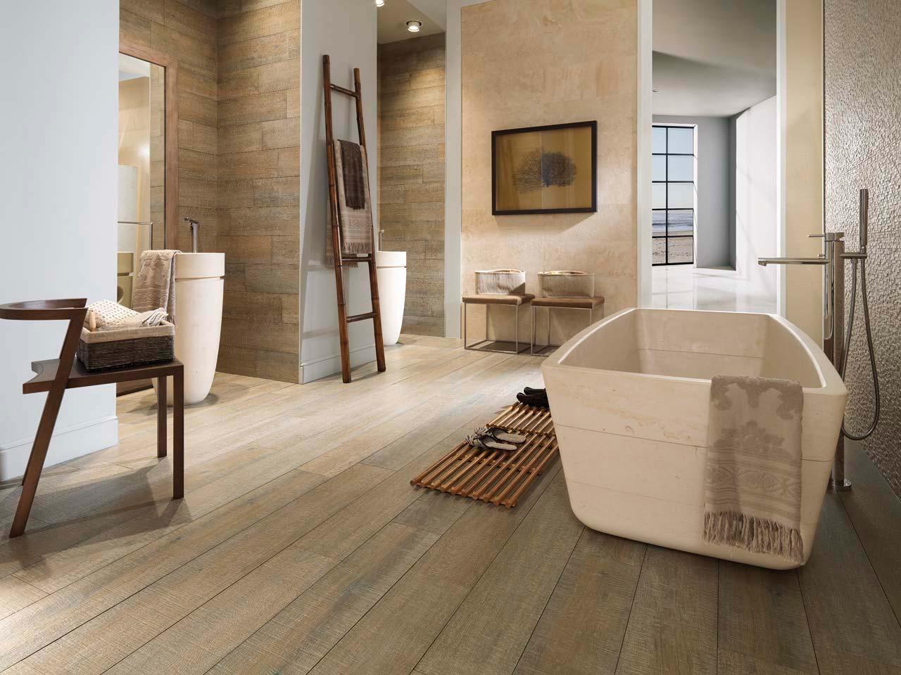 Badkamer keramisch parket voor de badkamer tegelextra