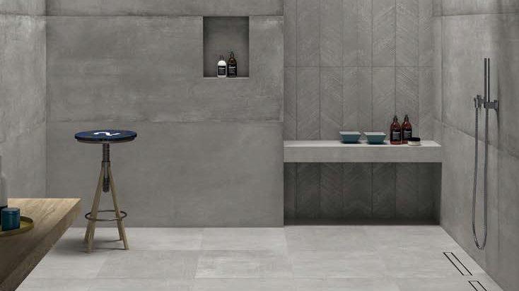 Badkamer Tegel Betonlook : Uitgelicht betonlook tegels voor de woonkamer tegelextra
