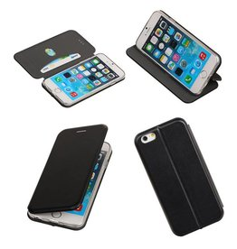 Lelycase Zwart Folio Slim Stand Booktype TPU case voor Apple iPhone 6