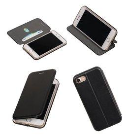 MP Case Zwart Folio Slim Stand Booktype TPU case voor Apple iPhone 7 / 8
