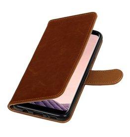 Lelycase Bruin vintage lederlook bookcase wallet hoesje voor Samsung Galaxy S8