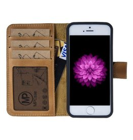 MP Case MP Case echt leer bookcase iPhone 5 / 5s / SE Vintage Bruin
