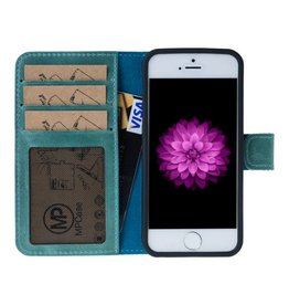 MP Case MP Case echt leer bookcase iPhone 5 / 5s / SE Turquoise