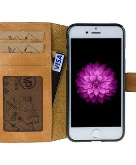 MP Case MP Case echt leer bookcase iPhone 7 Plus Vintage Bruin