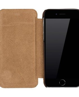 Galata Galata echt leer book case iPhone 6(s) Bruin