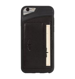 Galata Galata echt leer back cover iPhone 6(s) slim-stand Zwart