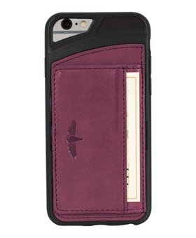 Galata Galata echt leer back cover iPhone 6(s) slim-stand Paars