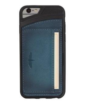 Galata Galata echt leer back cover iPhone 6(s) slim-stand Blauw