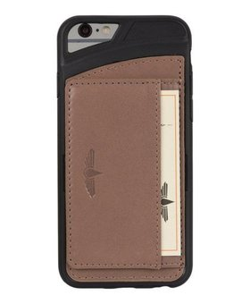 Galata Galata echt leer back cover iPhone 6(s) slim-stand Bruin