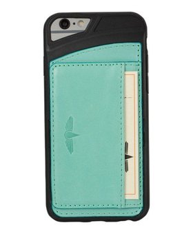 Galata Galata echt leer back cover iPhone 6(s) slim-stand Turquoise