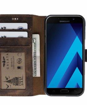 Galata Galata echt leer Samsung Galaxy A5 (2017) Antiek Bruin