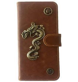 MP Case Samsung Galaxy S8 book case draak design bedel pu leder