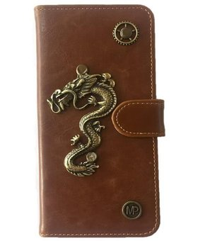 MP Case Samsung Galaxy S8 book case draak design bedel pu leder