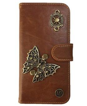 MP Case Samsung Galaxy S8 book case vlinder design bedel pu leder