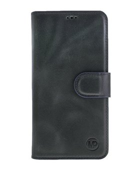 MP Case MP Case Samsung Galaxy S8 Plus echt leer bookcase zwart