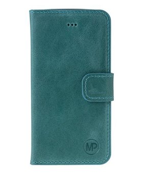 MP Case MP Case Samsung Galaxy S8 Plus echt leer bookcase turquoise