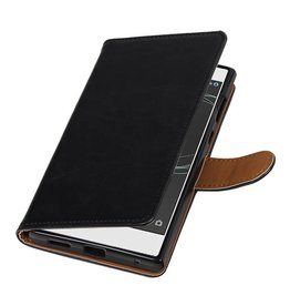 MP Case Sony Xperia L1 hoesje book case vintage lederlook zwart